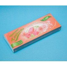 Želejas konfektes ar tējas rozes ziedlapiņu garšu